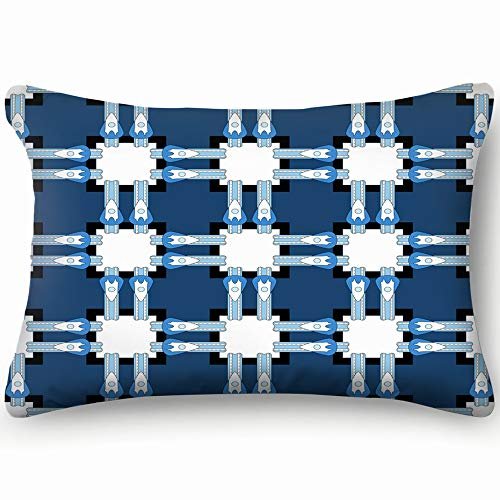 Belted Geometric Plaid The Arts Abstract Skin Cool Super Soft and Luxury Pillow Cases Covers Sofa Bed Throw Pillow Cover with Envelope Closure 1624 - Buckle Belted Closure Belt