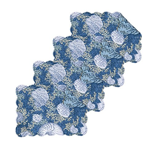 C&F Home Cape Coral Cotton Quilted Reversible Rectangular Cotton Quilted Placemat Set of 4 Rectangular Placemat Set of 4