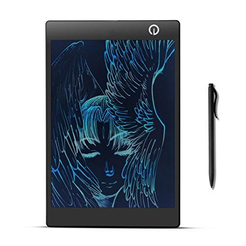 Eschone 9.7 Inch Colorful Drawing Board, Kids LCD Rainbow Writing Style Tablet, Electronic Little Compact Tablet (black)