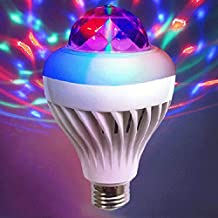 Disco Ball Party Lights, LED Small Magic Ball, Stage Light Sound Activated Mini Bulb 3W Colorful Light for DJ KTV Club Bar Party,E27