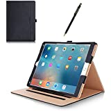 Apple iPad Pro Case - ProCase Leather Stand Folio Case Cover for 2015 Apple iPad Pro 12.9 inch, with Multiple Viewing angles, auto Sleep/Wake, Document Card Pocket (Black)