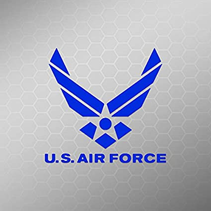 Amazon. Com: get 2 air force mom 6 inch white vinyl decal military.