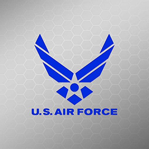 AIR FORCE Decal Truck Bumper Window Vinyl Sticker | Blue | 4.5 In | - Decals Armed Forces