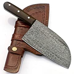 BRAND NEW 11 INCHES HANDMADE DAMASCUS STEEL CHOPPER CLEAVER KNIFE RAIN DROP PATTERN DAMASCUS STEEL BLADE (1095 / 15N20) . OVER ALL LENGTH = 11.00 Inches . WIDTH = 3.25 Inches . BLADE THICKNESS = 4.5 mm . DAMASCUS STEEL BLADE MADE BY FORGING 1...