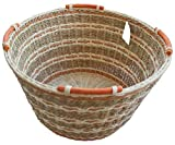 ShopOnNet RT450160: Handwoven Round Wicker/Rattan Storage Basket Handles