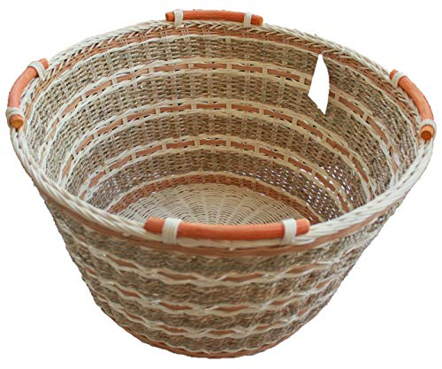 ShopOnNet RT450160: Handwoven Round Wicker/Rattan Storage Basket with Handles ()