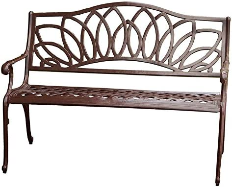 Best Selling Spiral Cast Aluminum Outdoor Bench