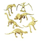 Sunflower Day Assorted Dinosaur Fossil Toy Skeleton Figures for Kids 12 Pack by