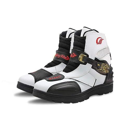 CBFYKU Zapatillas a Prueba de Viento antidesgaste de Moto: Amazon.es: Zapatos y complementos