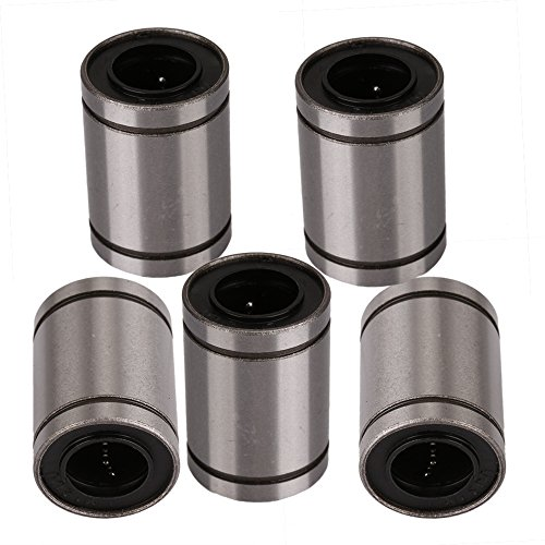 - CNBTR Silver 12mm Inner Dia LM12UU Linear Motion Machinery Linear Ball Bear Bearing Bush Bushing Set Pack of 5