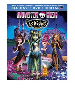 Monster High 13 Wishes Monster High 13 Souhaits Bilingual Blu Ray Dvd Digital Copy