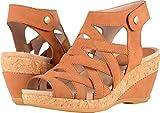 Dansko New Women's Cecily Wedge Sandal Camel Milled Nubuck 40
