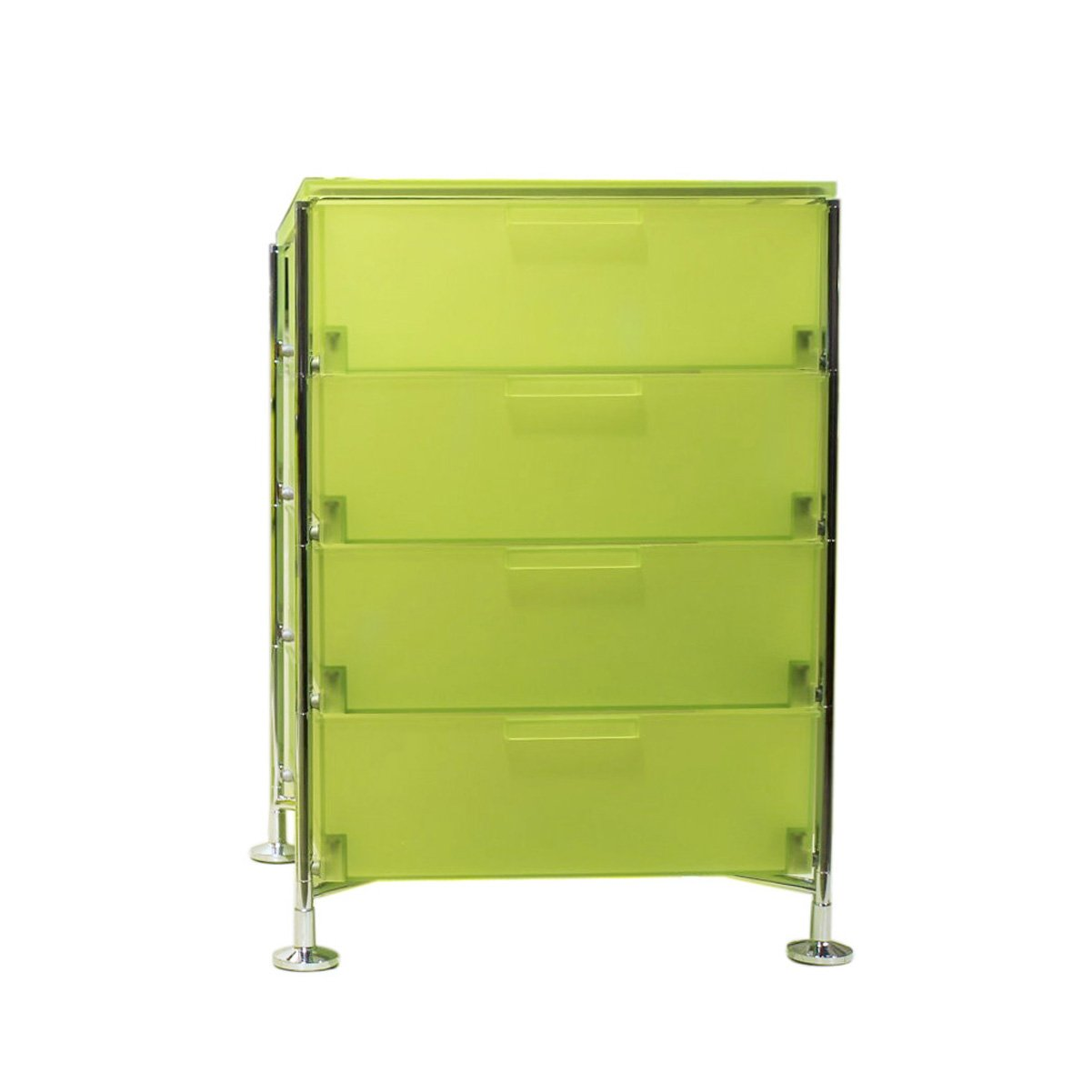 Kartell 2025L3 Container Mobil, 4 Schubladen, zitronengelb