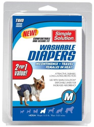 Bramton Company Simple Solution Washable Diaper Bram Washable Diaper Med 2Pk Clothing & Apparel by Bramton