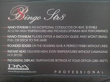 Diva Professional Str8 Titanium Flat Iron, 1-1 4 Inch