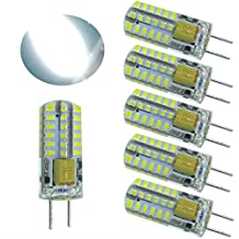 AC12V and DC12V Gy6.35 G6.35 Bi-Pins JC Type 3W Led light bulb, T3/T4/T5 G6.35/Gy6.35 Base JCD 25W or 35W Halogen Incandescent Replacement bulb (Daylight White 6000K)