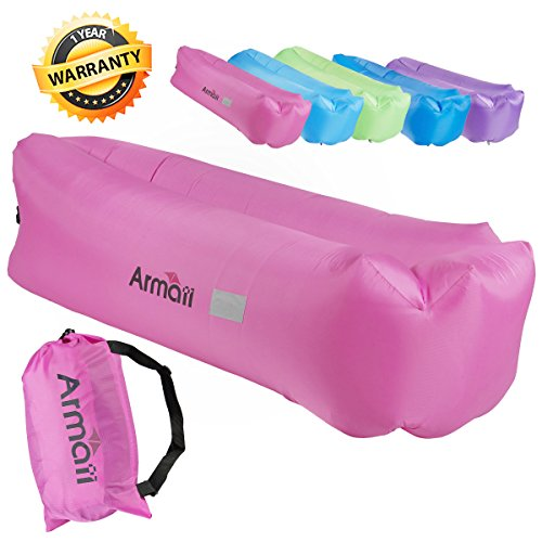 Armati Inflatable Lounger Patented Comfortable Headrest, ...