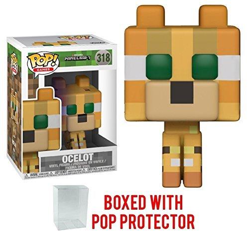 Funko 8-Bit Pop! Games: Minecraft - Ocelot Vinyl Figure (Bundled with Pop Box Protector Case)]()