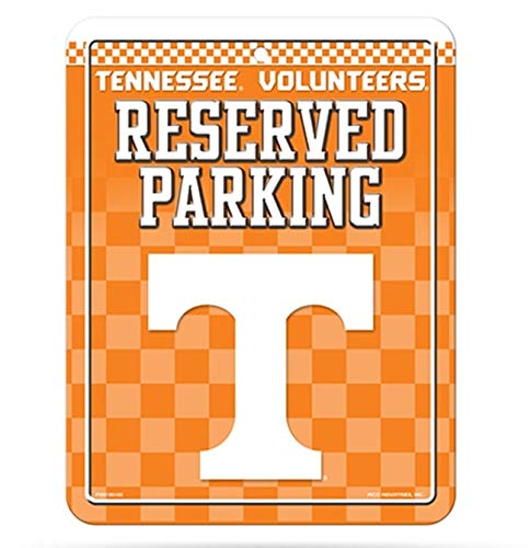 (NCAA Tennessee Volunteers 8-Inch by 11-Inch Metal Parking Sign Décor)