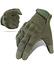 Tactical Gloves, Touch Screen Full Finger Military Gear Gloves , Impact-Resistant and Wear-Proof Motorcycle Gloves Best for Shooting Biking , Cycling, Hiking, Climbing.