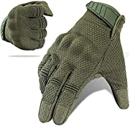 Tactical Gloves, Touch Screen Full Finger Military Gear Gloves , Impact-Resistant and Wear-Proof Motorcycle Gl