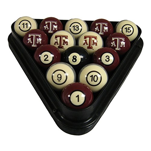 Wave 7 Technologies Texas A&M Billiard Ball Set - NUMBERED by Wave 7 Technologies Corp