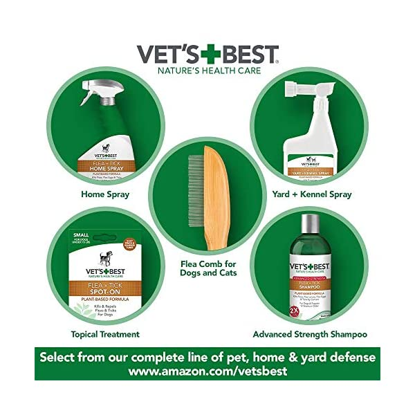 Vet's Best Flea and Tick Home Spray | Flea Treatment for Dogs and Home | Flea Killer with Certified Natural Oils 6