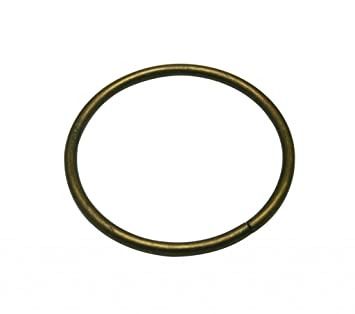 "05a655d0ed8c6 Image Unavailable. Image not available for. Color: Generic Metal Bronze  Large Size Annular Ring Buckle 3"" Inside Dia Loop Ring Strap Keeper"