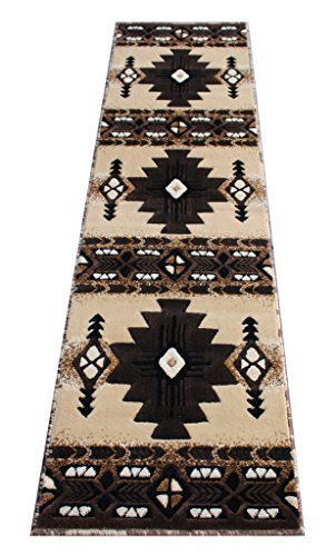 (Southwest Native American Runner Area Rug Berber Beige Concord Design C318 (2 Feet X 7 Feet ))
