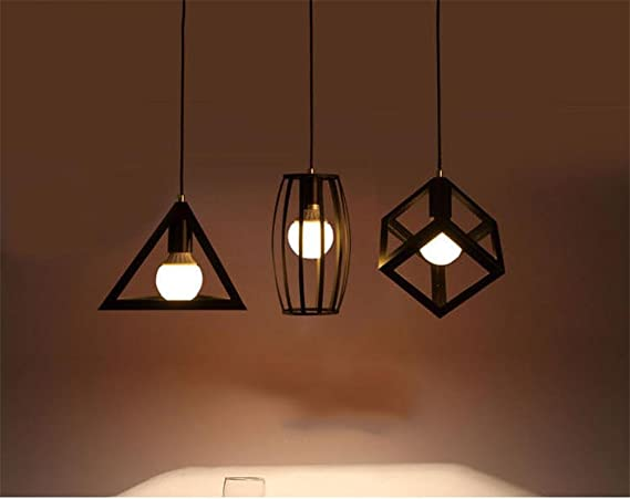Luz geometría Loft Retro Restaurante Bar luces pendientes ...