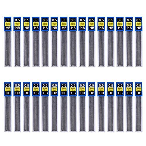 (Uspeedy 360 Pieces HB Black Lead Refills Mechanical Pencil Lead,12 Pieces per Tube, 30 Tubes(0.5mm))