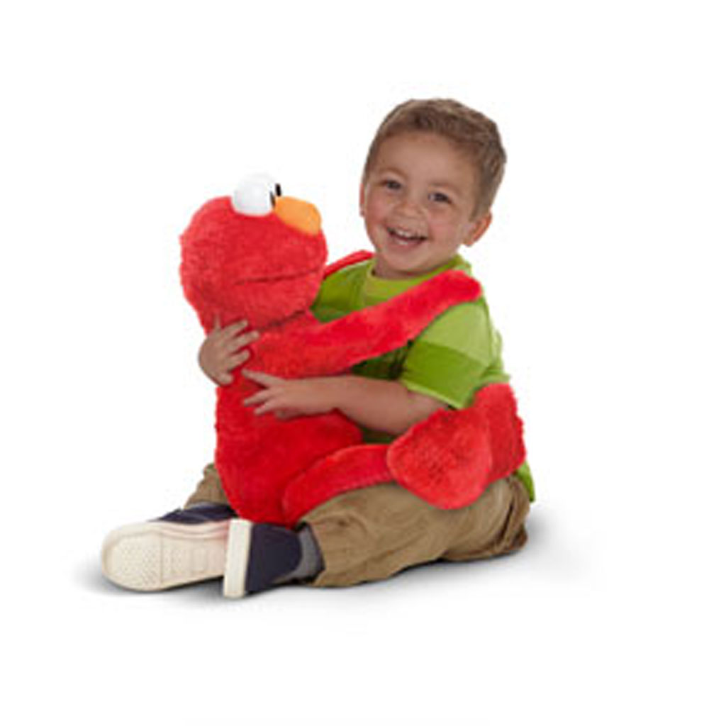 Amazon Com Playskool Sesame Street Big Hugs Elmo Plush Toys Games