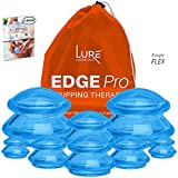 Cupping Sets - Edge Pro Cupping Therapy Sets - Cups for Cupping Silicone Vacuum Suction for Muscle, Joint Pain, Cellulite & More (Brilliant Blue, 8)