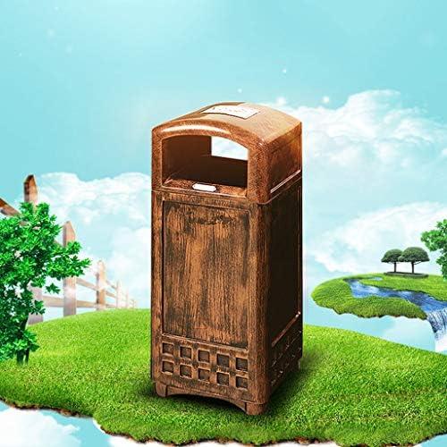 ごみの入れ替えが簡単 創造的なレトロのゴミ箱は正方形のホテルのロビーのショッピングモールの金属のゴミ箱を耐久できます ホームオフィスバスルームペーパーバスケット