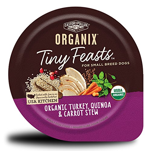 Castor & Pollux Organix Tiny Feasts Organic Turkey, Quinoa And Carrot Stew Wet Dog Food, 3.5 Oz, Case Of 12