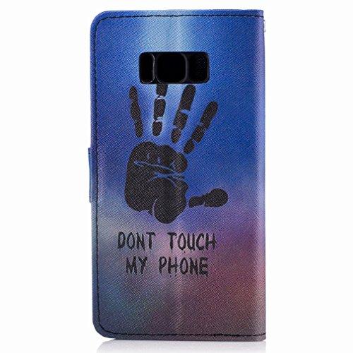 Yiizy Samsung Galaxy S8 Funda, Fresco A Mano Diseño Solapa Flip Billetera Carcasa Tapa Estuches Premium PU Cuero Cover Cáscara Bumper Protector Slim Piel Shell Case Stand Ranura para Tarjetas Estilo