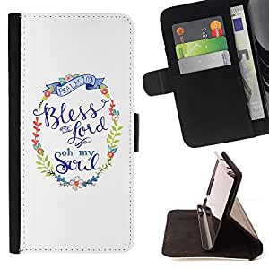 For LG OPTIMUS L90 Lord God Christ Christian Religion White Wreath Style PU Leather Case Wallet Flip Stand Flap Closure Cover
