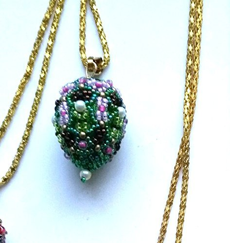 - Fabergé Inspired Easter Egg Pendant in Green