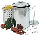 32 qt turkey fryer - Bayou Classic 32 Quart Stainless Steel Outdoor Turkey Fish Deep Fryer Kit Extras ;JM#54574-4565467/341150492