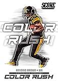 #3: 2018 Score Color Rush #11 Antonio Brown Pittsburgh Steelers Football Card