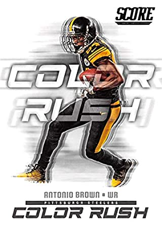 cb5f21e7bce 2018 Score Color Rush  11 Antonio Brown Pittsburgh Steelers Football Card