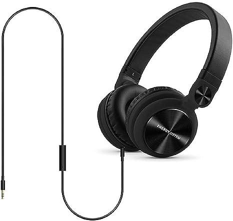 Energy Sistem DJ2 - Auriculares con micrófono Integrado en el Cable (rotación 180º, Flip