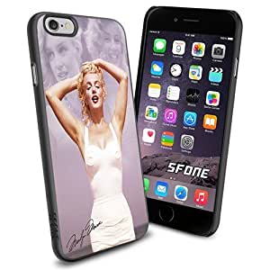 Marilyne Monroe Beauty with Sign Apple Smartphone iPhone 6 4.7 inch Case Cover Collector TPU Soft Black Hard Cases by runtopwell