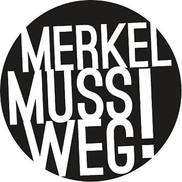 Merkel Muss Weg Autoaufkleber Amazonde Küche Haushalt