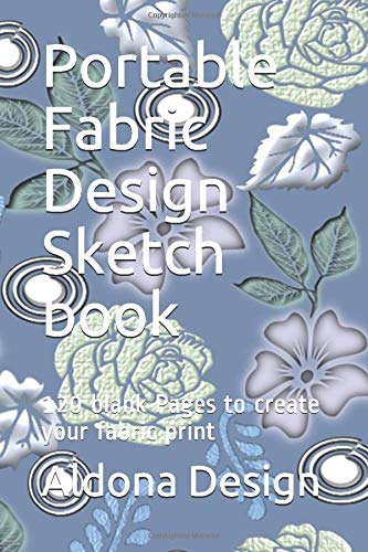 Amazon Com Portable Fabric Design Sketch Book 120 Blank Pages To