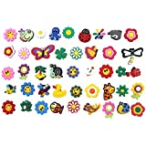 42pcs Cute Flowers and animals Shoe Charms Shoe accessories for Croc Shoes & Bracelet Wristband party gifts