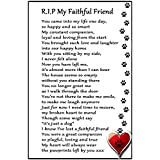 Dog Bereavement Gift Magnet - RIP My Faithful Friend - dog loss, sympathy, memorial Flexible Magnet 6 x 4 by Fridge Magnets