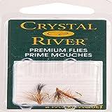 Crystal River Trout Flies Black Caddis Dark #12 Feathers