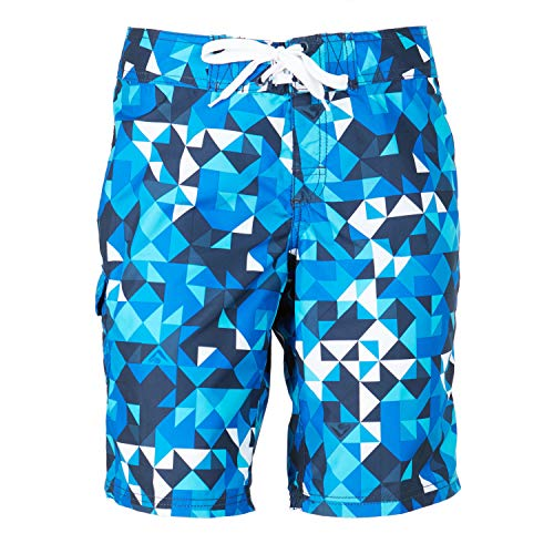Print Shorts Microfiber - Kanu Surf Women's Marina UPF 50+ Active Swim Board Short (Reg & Plus Sizes), Gillian Blue, 14