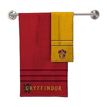 Robe Factory Harry Potter Gryffindor una Toalla de baño Toalla de Mano 2 Piezas: Amazon.es: Hogar